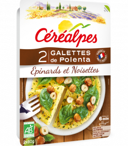 Galettes-polenta-épinards-noisettes