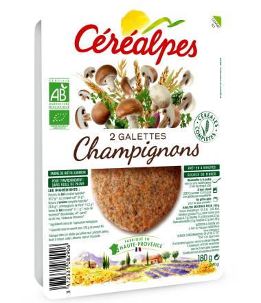 galettes fines champignons