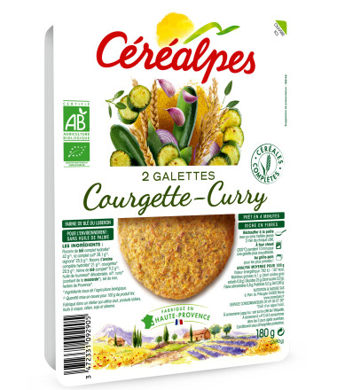 galettes fines courgette curry