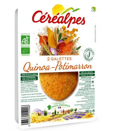 galettes fines quinoa potimarron