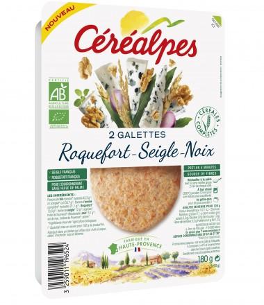 galettes fines roquefort seigle noix