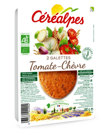 galettes fines tomate chèvre